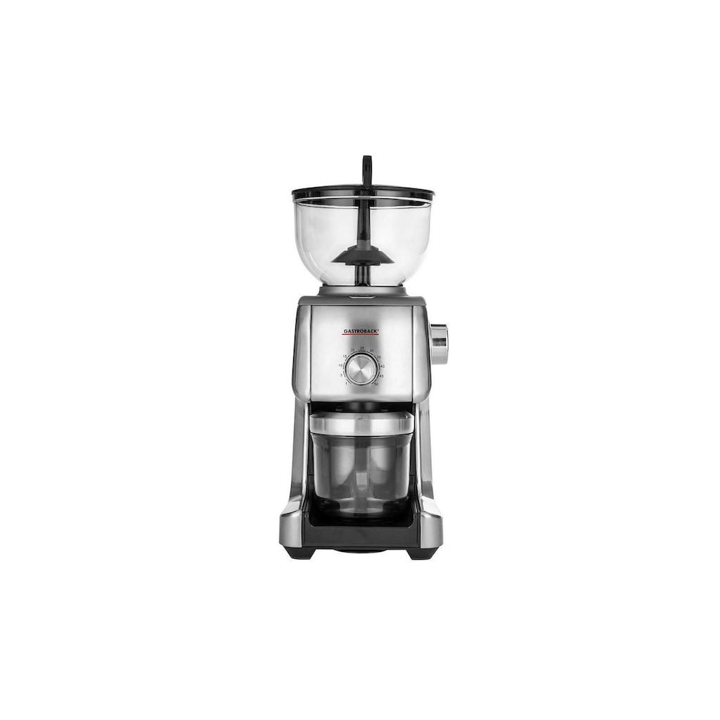 Gastroback Kaffeemühle »Advanced Plus 42642«, 130 W, Kegelmahlwerk, 400 g Bohnenbehälter