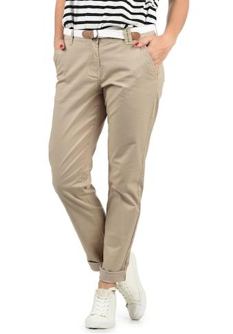 DESIRES Chinohose »Chakira«, (mit abnehmbarem Gürtel), lange Hose mit Gürtel in geflochtener Optik kaufen