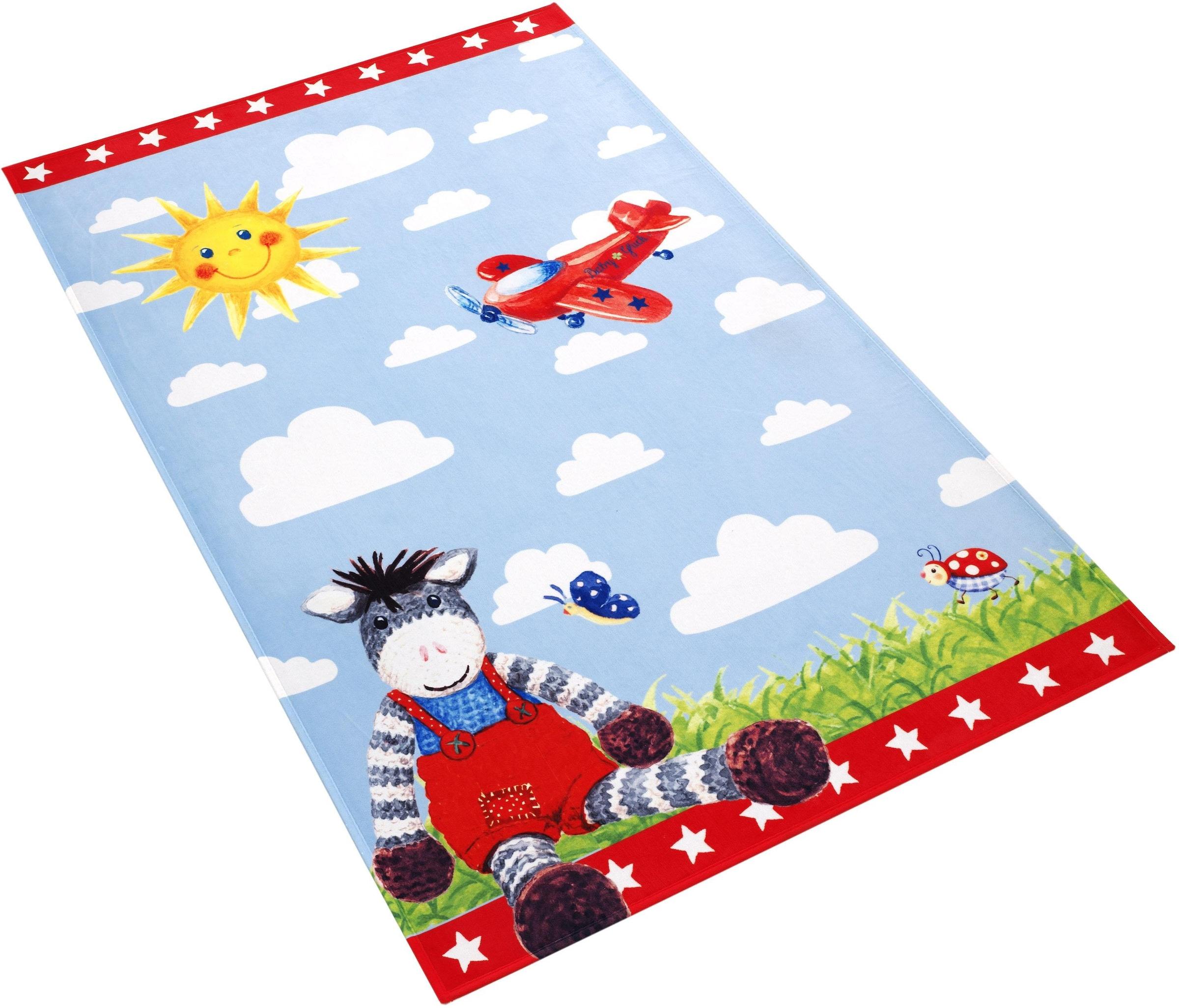 Image of Babyglück Kinderteppich »Babyglück 710-11«, rechteckig, 6 mm Höhe, Stoff Druck, weiche Mircofaser