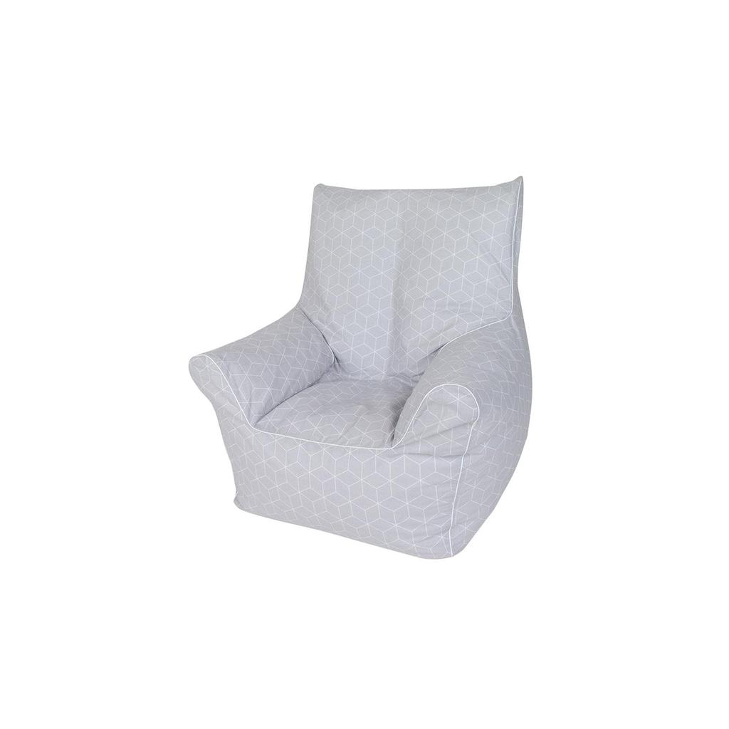 Knorrtoys® Sitzsack »Junior - Geo Cube Grey«