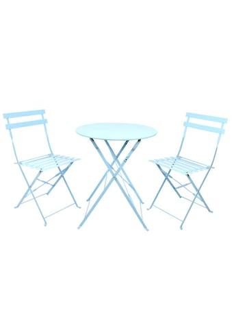 Balkonset »Tisch und Stühle Stahl, blau«, (Set, 3 tlg.) kaufen