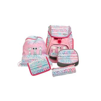 Schulthek - Set, Funki, »Flexy - Bag Cool Cats 5 - teilig« kaufen