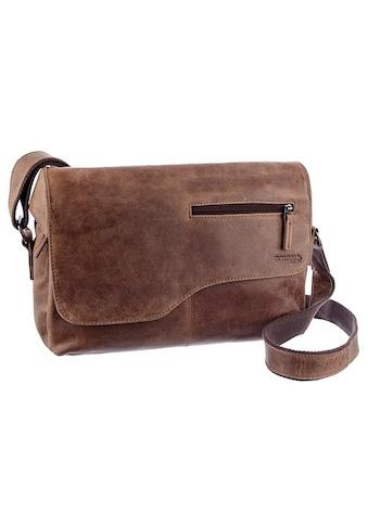 GreenLand Nature Messenger Bag »Montana«, aus Büffelleder im Vintage Look kaufen