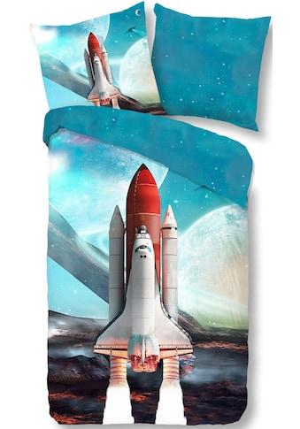 good morning Wendebettwäsche »Spaceshuttle«, mit Raumschiff kaufen