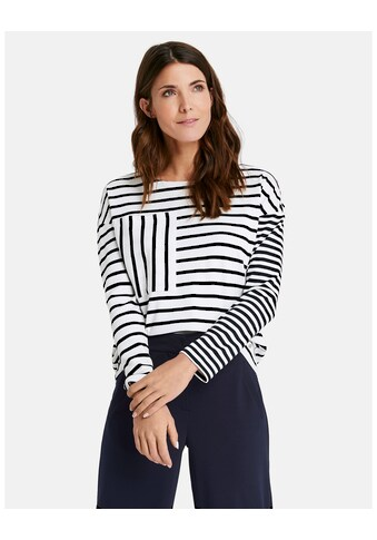 GERRY WEBER T - Shirt 1/1 Arm »Gestreiftes Sweatshirt« kaufen