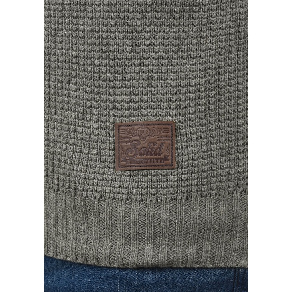 Solid Strickjacke »Tristian«, Cardigan mit Reissverschluss