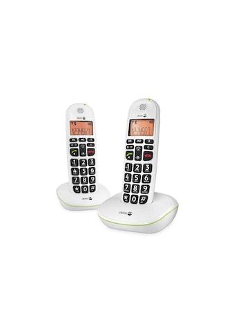 Doro Schnurloses DECT-Telefon »PhoneEasy 100w Duo - Weiss«, ( ) kaufen