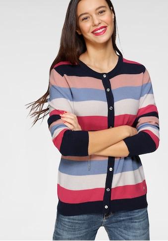 AJC Strickjacke, in Basic-Form mit Colorblocking aus hochwertiger Merino-Wolle kaufen