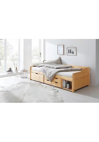 Home affaire Multimediabett »Nils«, mit 5 Schubladen und einem Fach, Liegefläche: 90/200 kaufen