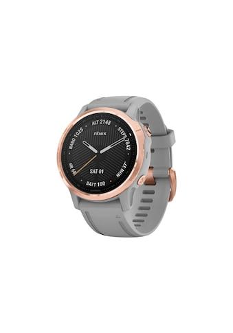 Garmin Smartwatch »fenix 6S Sapphire Schwarz/Silberfarben« ( kaufen