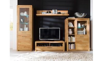 MCA living Wohnwand »Fenja«, (Set, 4 St.), mit Softclose-Funktion und aus Massivholz,... kaufen