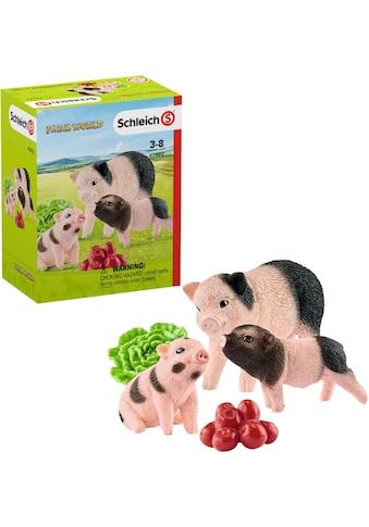 Schleich® Spielfigur »Farm World, Mini-Schwein Mutter und Ferkel (42422)«, (Set) kaufen