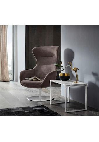Places of Style Stuhl »Leona«, mit Drehfunktion, auf rundem Fuss kaufen