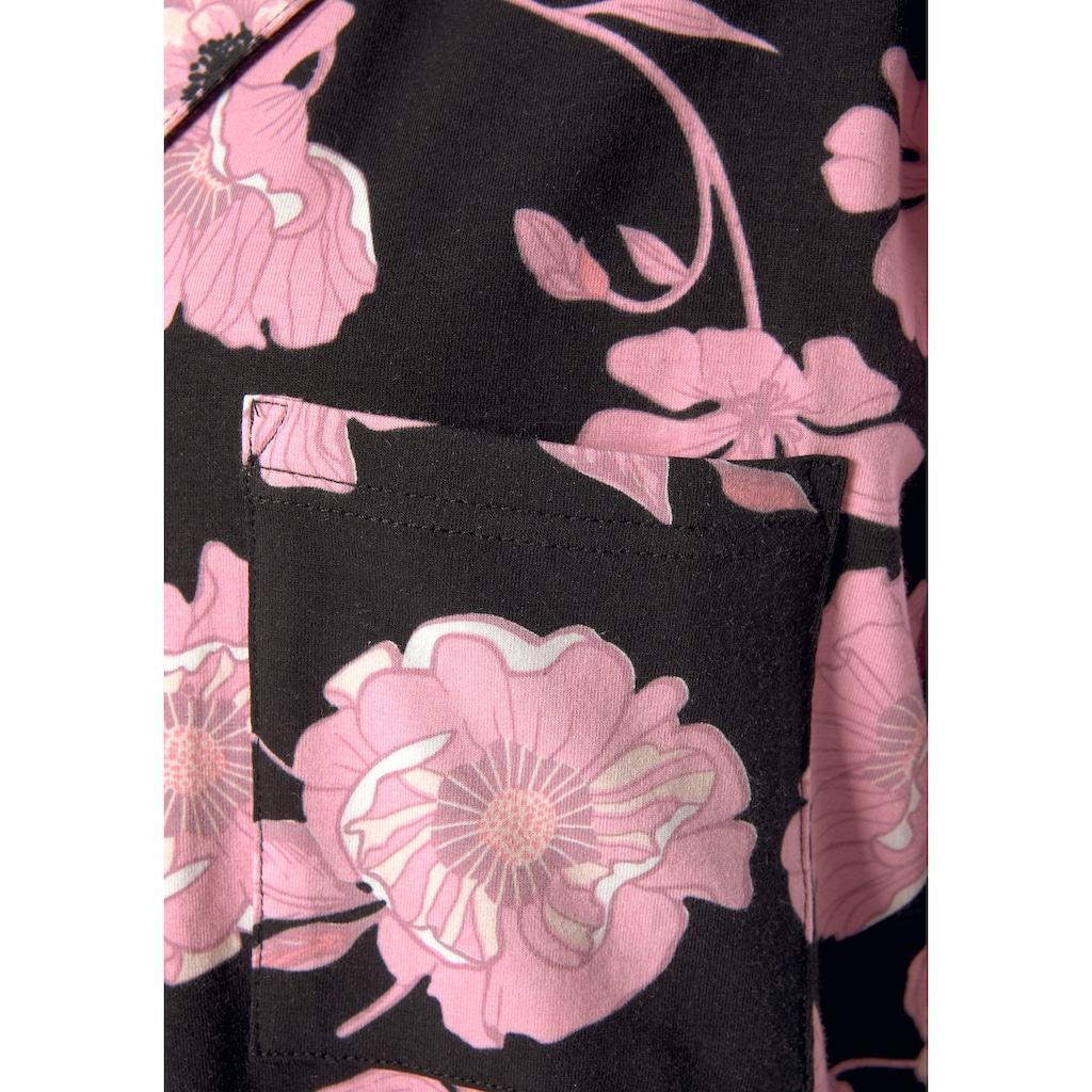 LASCANA Nachthemd, mit Blumenmuster