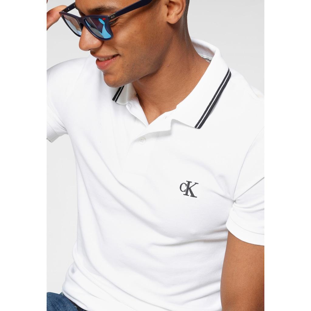 Calvin Klein Jeans Poloshirt »CK ESSENTIAL TIPPING SLIM POLO«