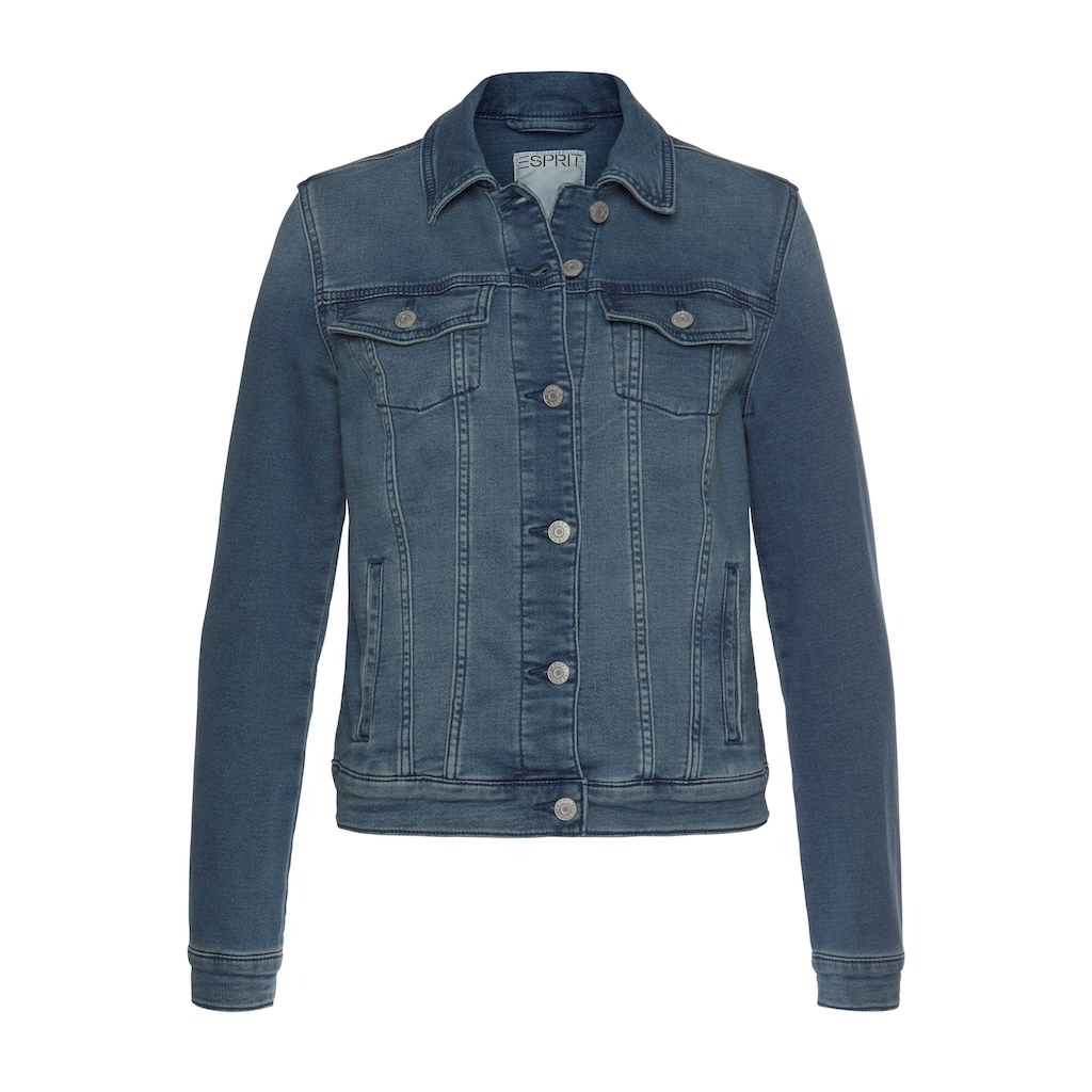 Esprit Jeansjacke, aus weichem Sweat-Denim