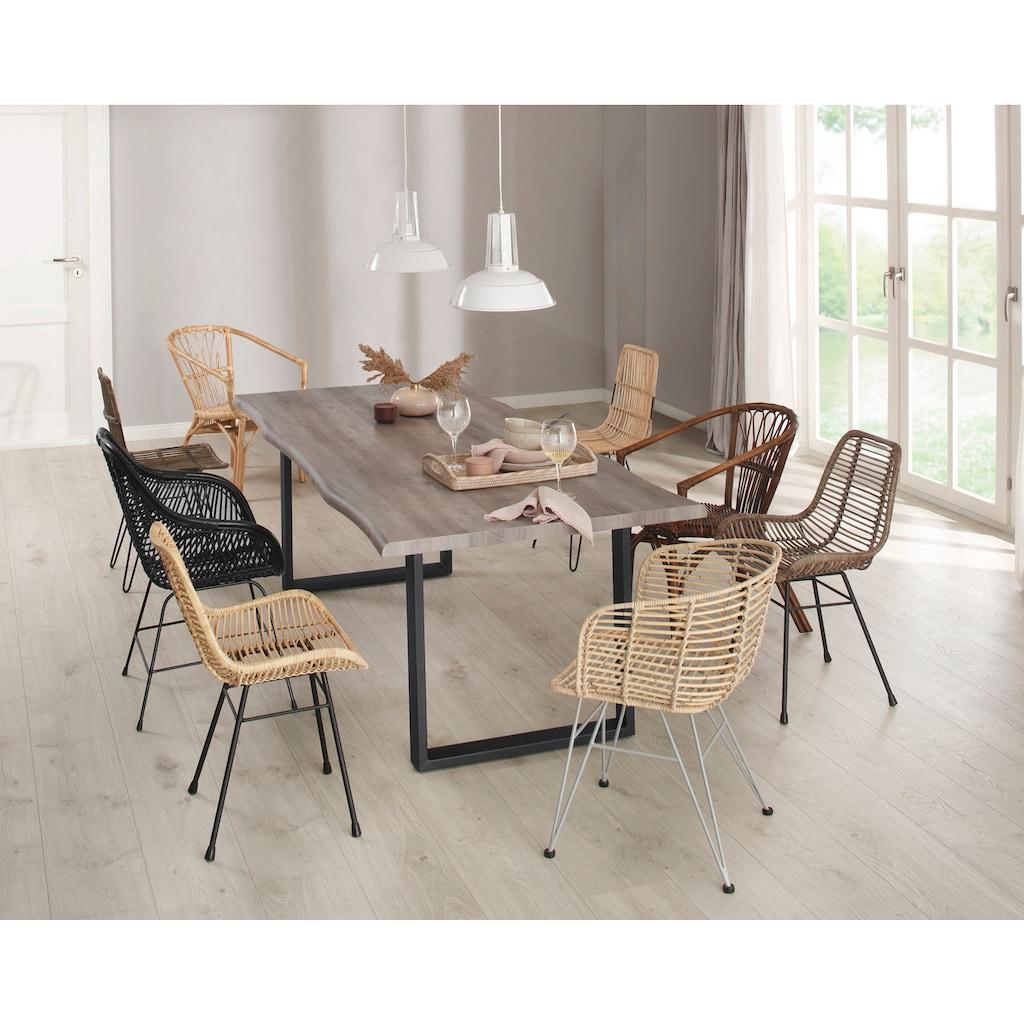 Home affaire Esszimmersessel »Niko«, 2er Set, aus einem schönen Rattangeflecht, in verschiedenen Farbvarianten