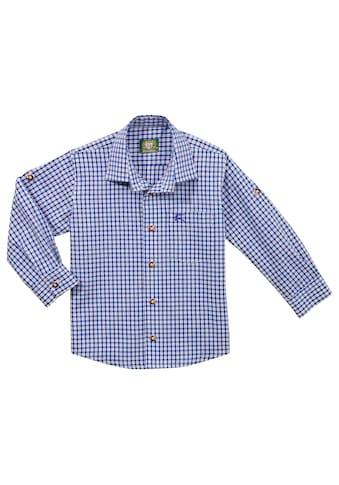 OS - Trachten Trachtenhemd Kinder in moderner Karo - Optik kaufen