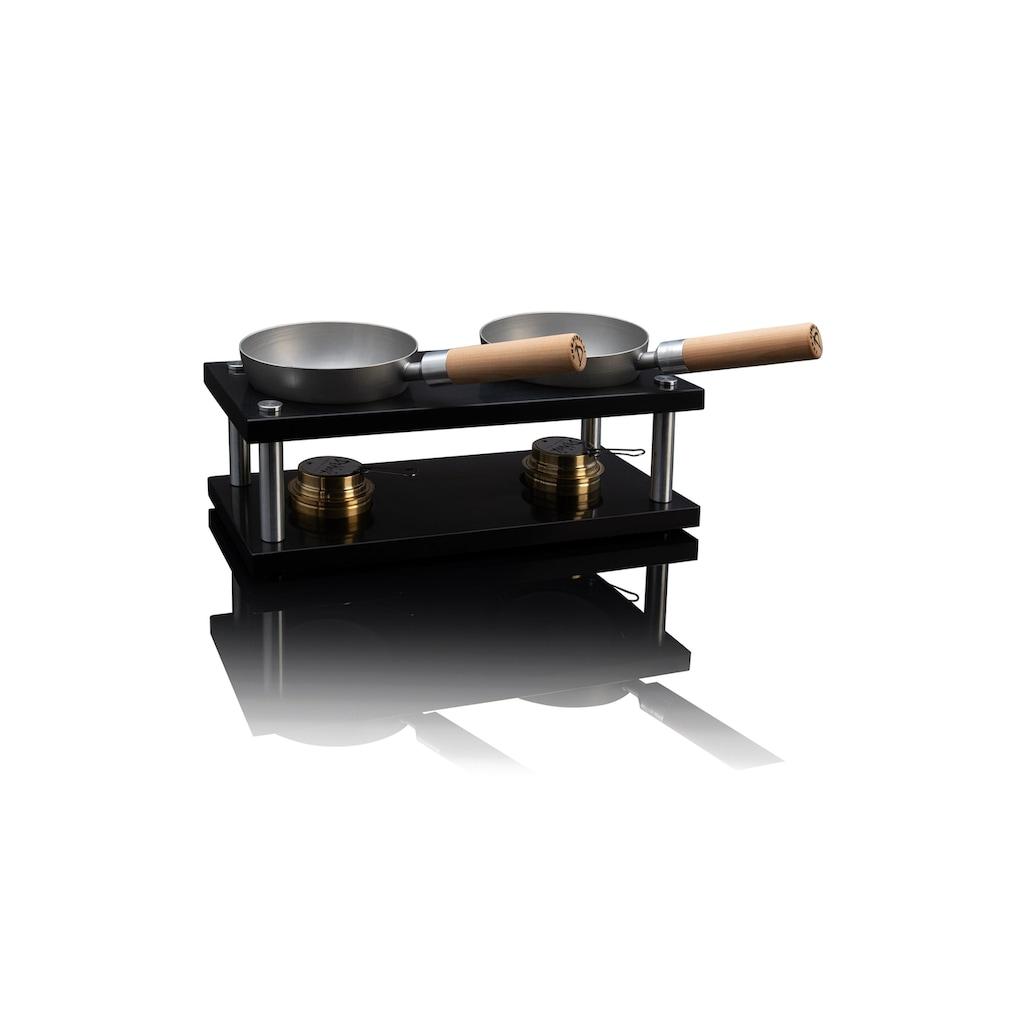 Raclette »Wok Double-Set Black Edition«, 4 St. Raclettepfännchen, - W