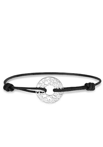 Armband Kordel und Silberfarben kaufen