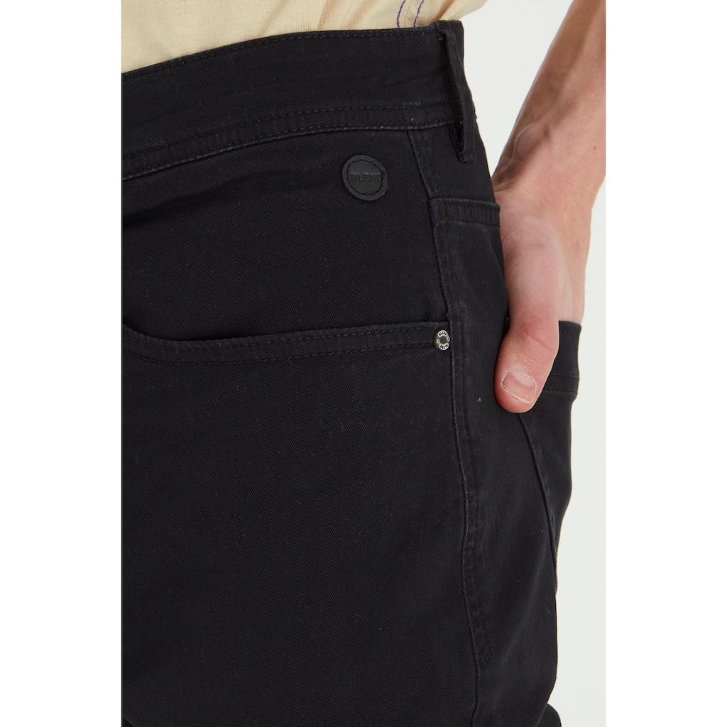 Blend 5-Pocket-Hose »Saturn«, lange Hose mit zahlreichen Leder-Logopatches