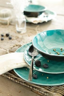Geschirr-Set in Türkis