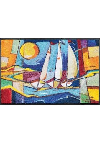 wash+dry by Kleen-Tex Fussmatte »sailing home«, rechteckig, 7 mm Höhe,... kaufen