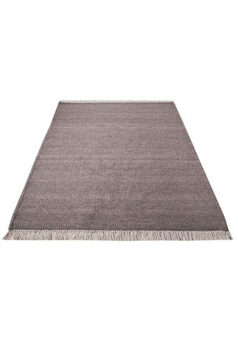 Home affaire Wollteppich »Victor«, rechteckig, 8 mm Höhe, reine Wolle, beidseitig verwendbar, Wohnzimmer kaufen