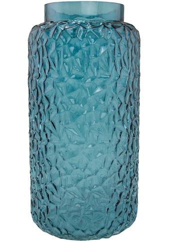Tischvase, aus Glas, mit Struktur, Höhe ca. 28 cm kaufen