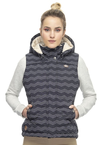 Ragwear Plus Steppweste »HESTY PLUS«, im maritimen Allover-Print kaufen