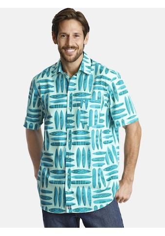 Jan Vanderstorm Kurzarmhemd »KYRE«, Sommerhemd mit Surfbrettmotiv kaufen