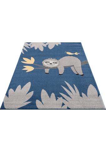 Lüttenhütt Kinderteppich »Faultier«, rechteckig, 14 mm Höhe, weiche Haptik kaufen