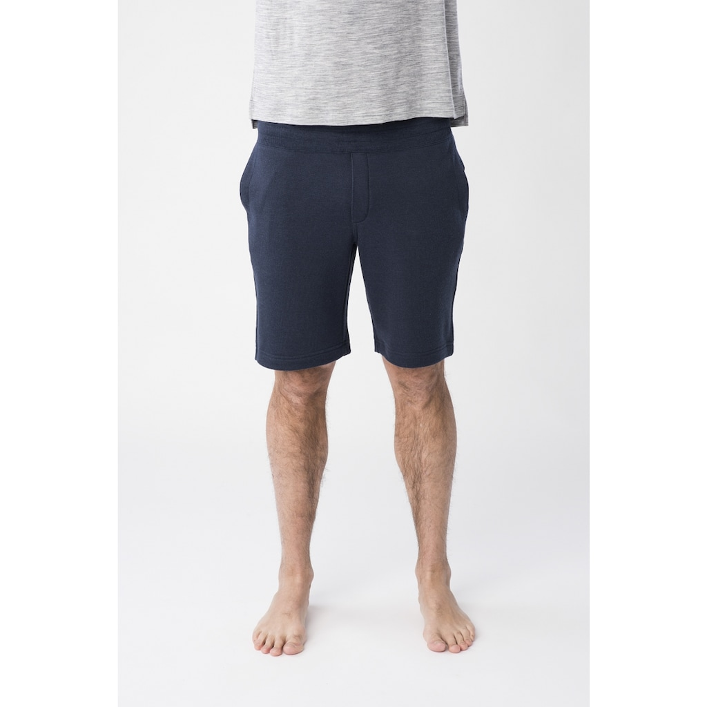 SUPER.NATURAL Shorts »M KNITTED SHORTS«, atmungsaktiver Merino-Materialmix