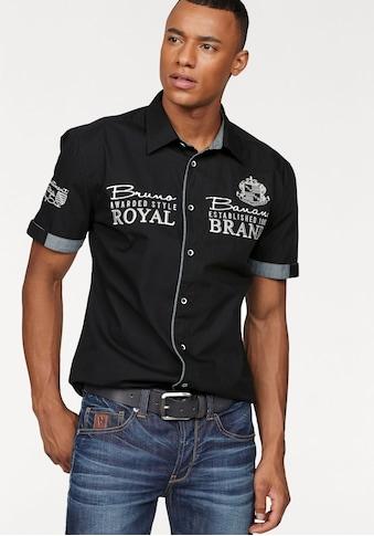 Bruno Banani Kurzarmhemd, mit hochwertigen Stickereien kaufen