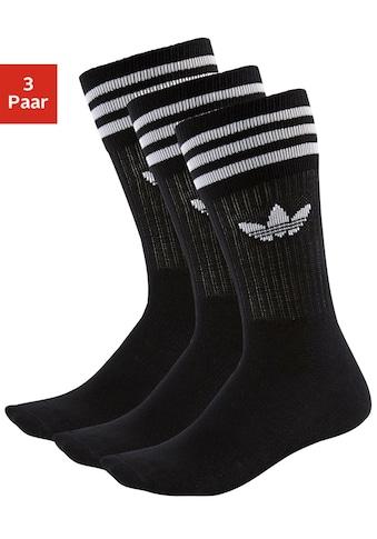 adidas Originals Socken »Crew«, (3 Paar), mit klassischem Label und Streifen kaufen