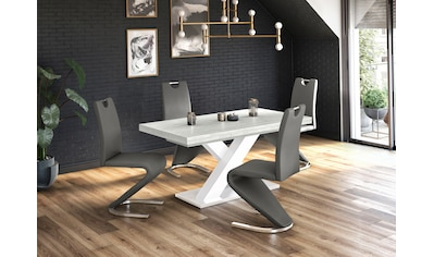 Esstisch »Komfort C«, mit X-Gestell in weiss und mit Auszugsfunktion, Breite 180-280 cm kaufen