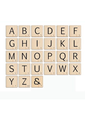 Wall-Art Holzbild »Scrabble Deko Buchstaben 20cm«, H, (1 St.) kaufen