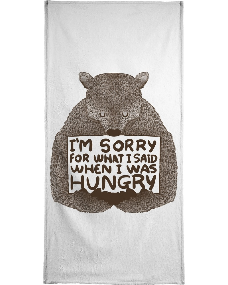 """Image of Handtuch """"I'm Sorry For What I Said When I Was Hungry"""", Juniqe"""