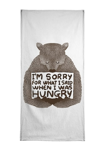Juniqe Handtuch »I'm Sorry For What I Said When I Was Hungry«, (1 St.), Weiche... kaufen
