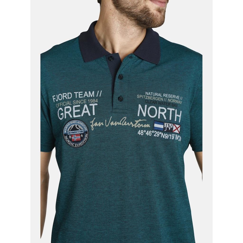 Jan Vanderstorm Poloshirt »SIMO«, mit schönem Farbeffekt