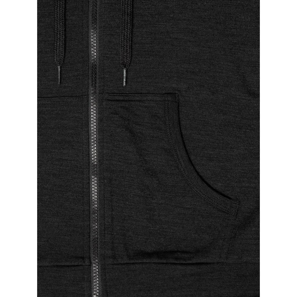 SUPER.NATURAL Kapuzensweatjacke »W ESSENTIAL ZIP HOODIE«, optimaler Merino-Materialmix
