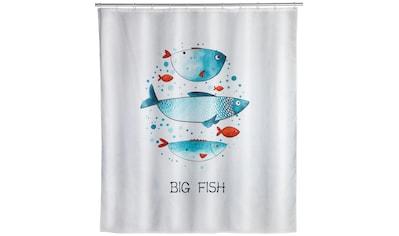 WENKO Duschvorhang »Big Fish«, Breite 180 cm, Höhe 200 cm, Textil (Polyester) kaufen