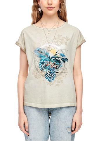 Q/S designed by T-Shirt, mit Front-Motiv kaufen