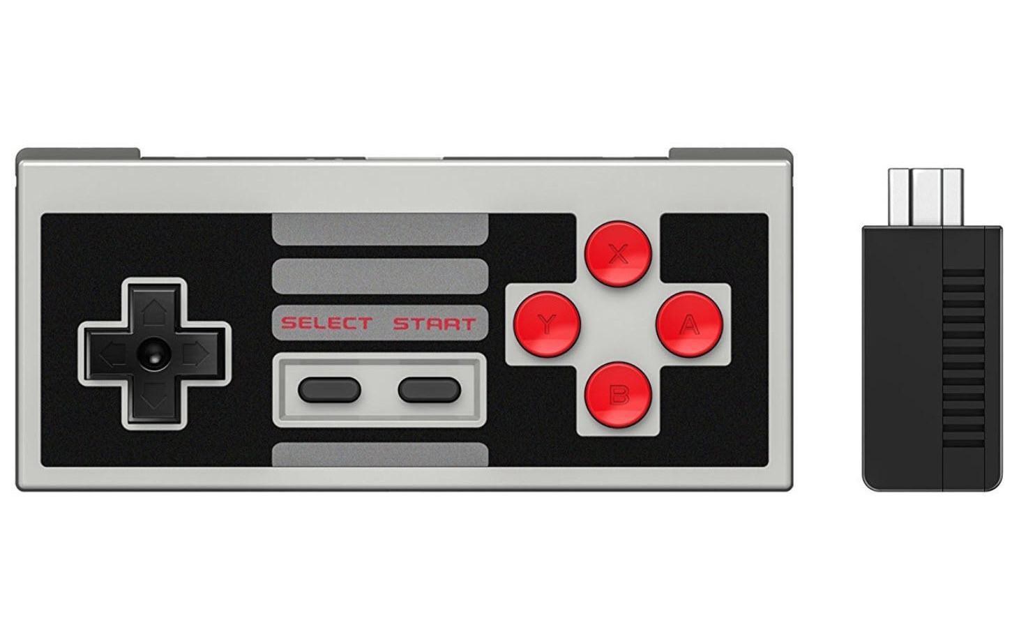 Image of Bluetooth Gamepad, 8bitdo, »NES30 Set inkl. Retro Receiver«