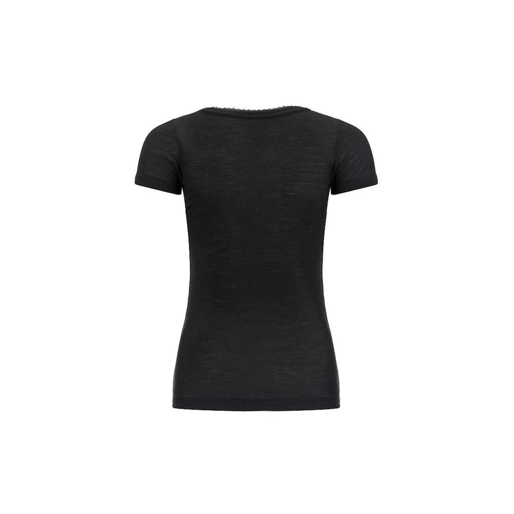 SUPER.NATURAL T-Shirt »W Scarlett Rib Ss 165«, angenehmer Merino-Materialmix