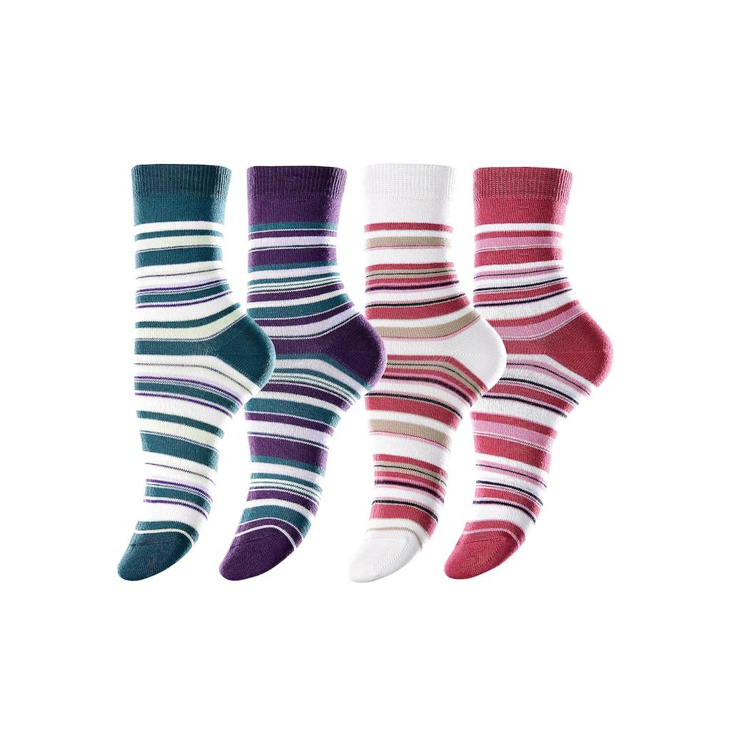 Lavana Socken, (4 Paar), mit Ringelmuster