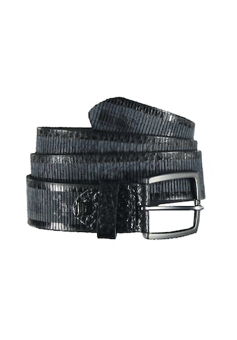 Engbers Ledergürtel, mit dezenten Streifen kaufen