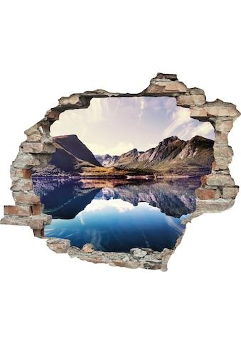 queence Wandtattoo »Spiegelnder Berg im See« kaufen