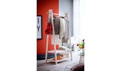 Home affaire Garderobenständer »Ward«, aus massivem weiss lackiertem Fichtenholz,... kaufen