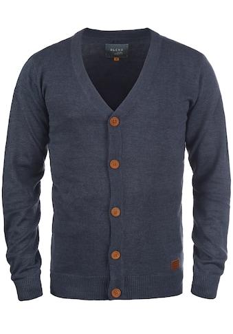 Blend Cardigan »Lennard«, Strickjacke mit Ton-in-Ton Ellenbogenpatches kaufen
